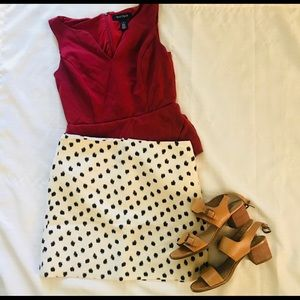 Polka dot J Crew skirt
